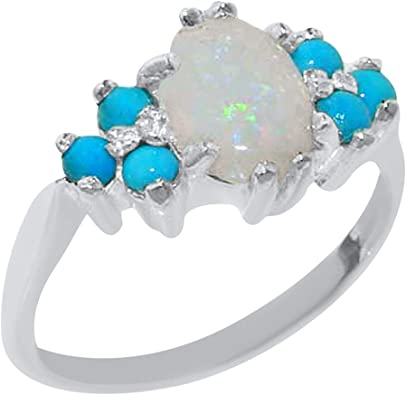 Unique Mens Turquoise  Ring Engraved Genuine 925 Silver Men Rings Vintage Size