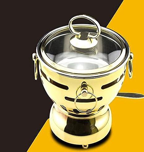S & T/Alcohol estufa pequeña caliente olla caliente olla de acero inoxidable único hogar