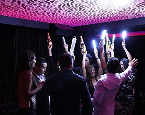 LED Strobe Baton Bottle Service Sparkler for VIP Nightclubs Led Bottle Baton Hand held -Gold Case- (Gold)