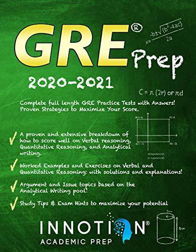 GRE Prep 2020-2021: Complete full length GRE
