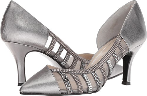 Caparros Womens Nathalie Pointed Toe Classic Pumps, Pewter Metallic, Size 7.5 ()