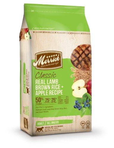 Merrick Classic 30-Pound Adult Real Lamb, Brown Rice and Apples Dog Food, 1 Bag, My Pet Supplies
