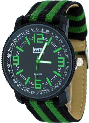 Mark Naimer #MN3041 Men's Fashion Accessory Black Metal Black and Green Everyday Watch, Watch Central