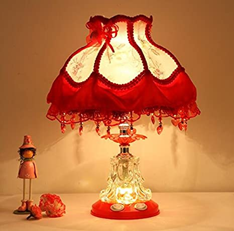 7a5efd2af7ed Best to Buy Tiffany Style Dimmable Child Table Lamp Victorian Jeweled Desk  Lamp Floral Cloth Art+Resin (Red)