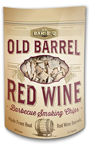 MR. BAR-B-Q 05040BC Old Barrel Red Wine Barbecue Smoking Chips, Brown