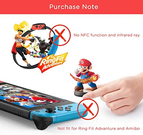 Joy Pad Controller Replacement for Switch/Switch Lite, Vivefox L/R Wireless Joy Pad with Wrist Strap, Alternatives Joy Controller for Switch & Lite Gamepad, Wired/Wireless Switch Remotes - Red/Blue