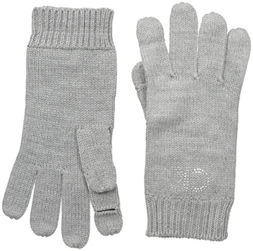 Calvin Klein Women's Stud Logo Glove, Heathered Mid Grey, One Size
