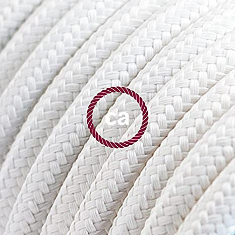 - Kit Fai da Te Decentratore Creative-Cables Spider Sospensione Multipla a 5 Cadute Cilindrico Metallo Bianco Made in Italy Cavo RM01 Bianco