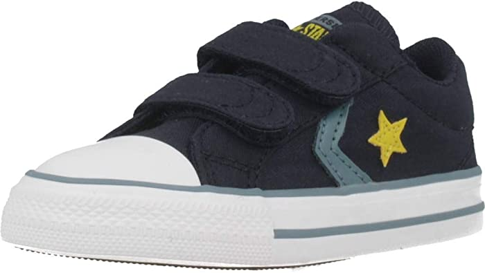 converse - star player 2v canvas ox - gris