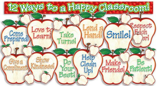 Scholastic Happy Classroom Apples! Bulletin Board (TF3140)