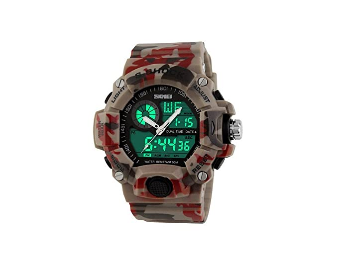 Amazon.com: Relojes de Hombre 2018 Quartz Digital Dual Time Man Sports Watches Shock Military Army RE0059: Everything Else