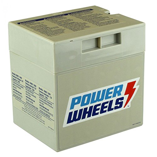 Fisher Price 00801-0638 Power Wheels Grey 12 Volt Rechargeable Battery Genuine (Barbie Power Wheels Jeep Battery)