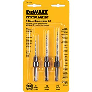 DEWALT DW2535 3 Piece #6, #8, and #10 Countersink Assortment
