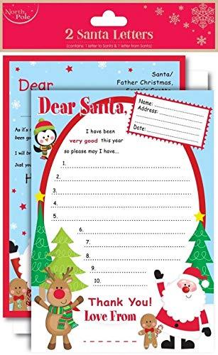 Dear Santa Wishlist carta de niños de Papá Noel respuesta ...