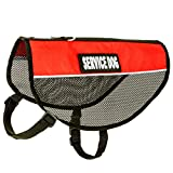 """barkOutfitters Service Dog Vest Cool Red Mesh Harness, L (17.5'' - 21"""" Girth) )"""