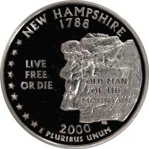 2000 New Hampshire S Gem Proof State Quarter US Coin