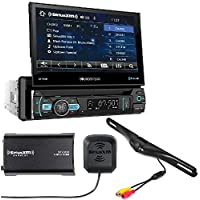 SOUNDSTREAM VR-75XB CAR 1DIN DVD CD BLUETOOTH STEREO W/ MOTORIZED 7 TOUCHSCREEN SiriusXM Satellite Radio Vehicle Tuner Kit SXV300v1 And Backup Camera