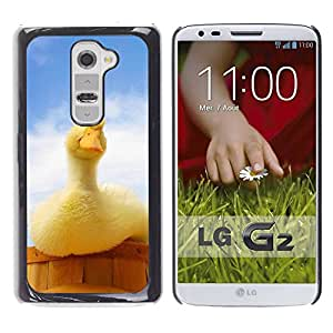 Paccase / SLIM PC / Aliminium Casa Carcasa Funda Case Cover para - Duck Yellow Blue Farm Country Duckling - LG G2 D800 D802 D802TA D803 VS980 LS980