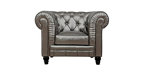 TOV muebles Zahara Piel de color negro Club silla tov-c40 ...