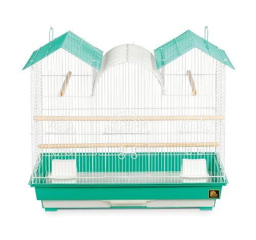 Prevue Hendryx SP1804TR-2 Triple Roof Bird Cage, Teal and White by Prevue Hendryx