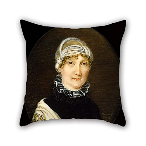 16 X 16 Inches / 40 By 40 Cm Oil Painting Anna Claypoole Peale - Portrait Of Mrs. Jonathan Bates Throw Pillow Case Twin Sides Ornament And Gift To Christmas (Bates Farmhouse)