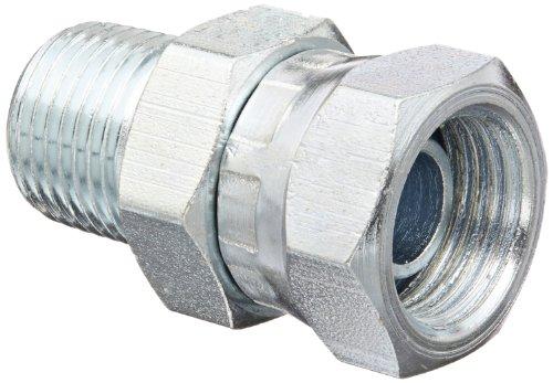 Eaton Weatherhead 9205X4X4 Carbon Steel Fitting, Swivel, Adapter, 1/4