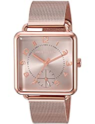 Michael Kors Womens Quartz Stainless Steel Casual Watch, Color:Rose Gold-Toned (Model: MK3664)