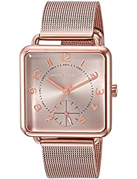 Womens Analog-Quartz Watch with Stainless-Steel Strap, Rose Gold, 18 (