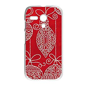Red Christmas Ornaments Motorola G Cell Phone Case White DIY Present pjz003_6610239