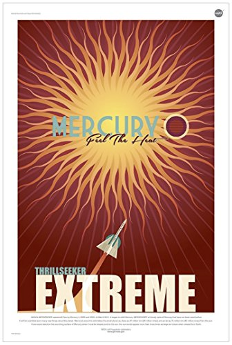 Mercury: Feel The Heat - NASA Jpl Space Tourism Travel Poster - Unframed -