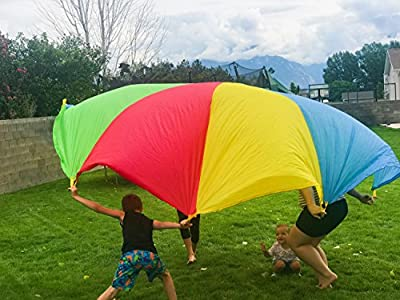 Toy Colorful Party Parachute, Kids Parachute Toy, Backyard Games for Kids, Rainbow Parachute for Kids, Field Day Game, Physical Education Games for Elementary, Activities for Kids Birthdays