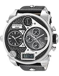 Diesel Mens DZ7125 Black SBA Oversized Dual-Display Stainless Steel Watch