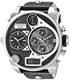 Diesel Men's DZ7125 Black SBA Oversized Dual-Display Stainless Steel Watch