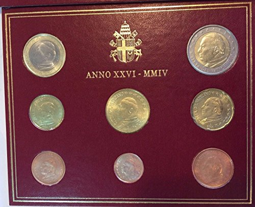 unknown 2004 Vatican 2004 Pope John Paul II Euro Set 8 Coins P Good
