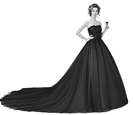 d9ef9326c3f Image Unavailable. Image not available for. Color  Emmani Women s Black  Lace Appliques Floor Length Tulle Ball Gown Quinceanera Dress