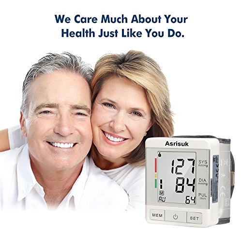 Asrisuk Monitor Readings User Adjustable Cuff LCD Screen BP for Health