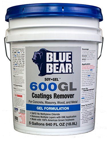 Soy Gel Stripper (BLUE BEAR 600GL Coatings Remover 5 Gallon by Franmar)