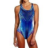 Ekouaer Womens Sport Splice One-Piece Training Swimsuit Bathing Suit