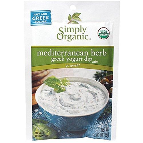 Simply Organic Mediterranean Herb Dip Mix (Pack of 3)