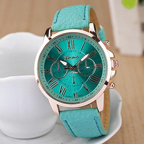 9 colores hot marca de ginebra reloj mujer vestido de diseño de moda relojes relojes de cuarzo analógico reloj de pulsera para hombre relojes mujer: ...