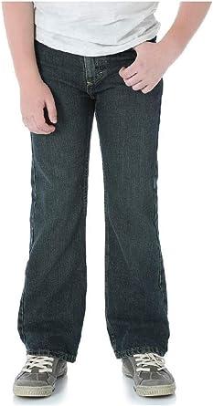 Slim Fit Wrangler Toddler Boys Five Star Premium Denim Classic Boot Fit Jeans Medium Wash, 5 Slim
