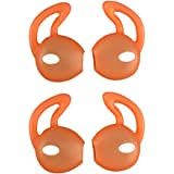 EKIND 2 Pairs Silicone Cover Earphone and Ear Hook for Apple AirPods EarPods (Orange)