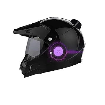 Inteligente Off-Road Bluetooth Motocicleta Cámara Casco, D.O. T Certificado ATV Moto Casco Completo