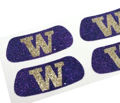 Washington Huskies NCAA Glitter Eye Black Strips, Perfect for Game Day and Tailgate