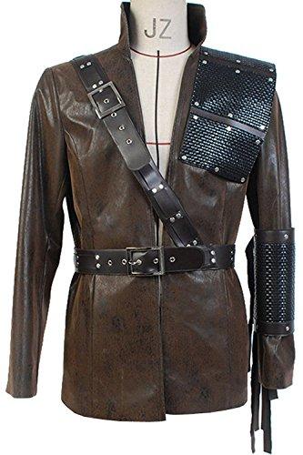 [Ya-cos Green Arrow Dark Archer Costume Malcolm Merlyn Outfit Cosplay Jacket] (Malcolm Merlyn Costume)