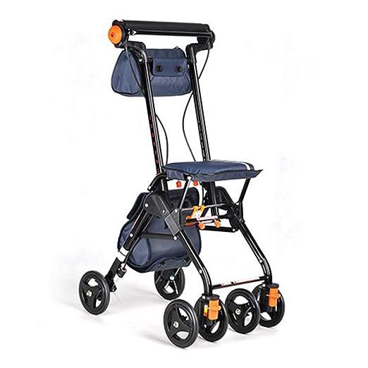 Ayudas para caminar portátiles de 4 ruedas plegables, andador de ...