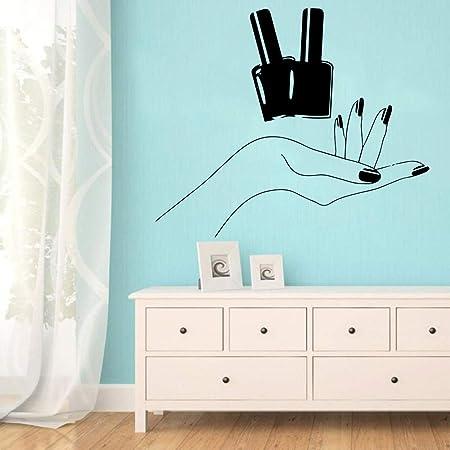 caowenhao Salón de uñas de Dibujos Animados Vinilo ...