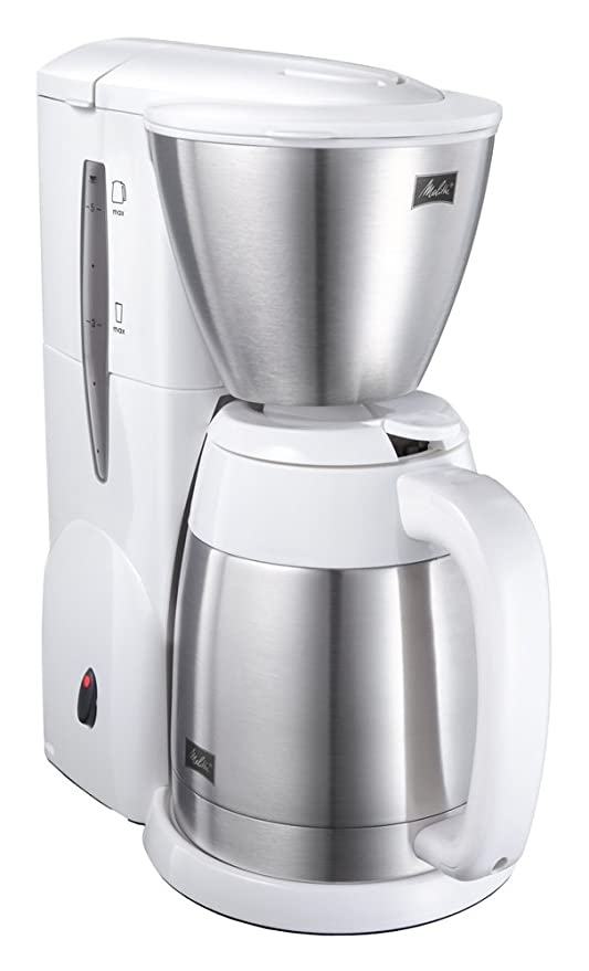 Amazon.com: Melitta Cafetera eléctrica de color blanco puro ...