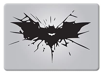 Batman Cracked Bat Symbol Dark Knight Rises Apple Mac Air Pro Retina Laptop Sticker