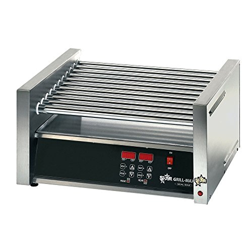 Table Top King star Grill Max Pro 30SCE 30 Hot Dog Roller Grill with Electronic Controls and Duratec Non-Stick Rollers 120 V